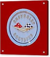 1958 Chevrolet Corvette Emblem Acrylic Print