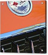 1958 Chevrolet Corvette Hood Emblem Acrylic Print