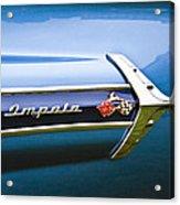 1960 Chevrolet Impala Emblem Acrylic Print