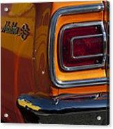 1965 Chevrolet Malibu Ss Taillight Emblem Acrylic Print