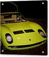 1968 Lamborghini Miura S Acrylic Print