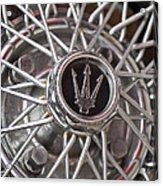 1972 Maserati Ghibli 4.9 Ss Spyder Wheel Acrylic Print