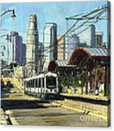 1st Street Train Station LA Acrylic Print