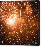 4th Of July Fireworks In Dc  Acrylic Print