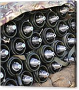 81mm Mortar Rounds Ready Stacked Ready Acrylic Print