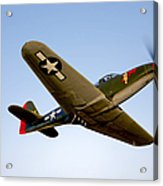 A Bell P-63 Kingcobra In Flight Acrylic Print