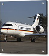 A Bombardier Global 5000 Vip Jet Acrylic Print