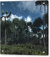 A Carboniferous Forest Of Midwestern Acrylic Print