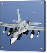 A Cf-188a Hornet Of The Royal Canadian Acrylic Print