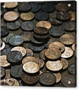 A Close View Of American Money Acrylic Print