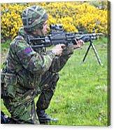 A Coldstream Guard Training In Scotland Acrylic Print