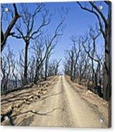 A Dirt Road Runs Along A Mountain Top Acrylic Print