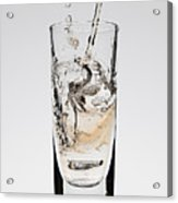 A Drink Being Poured Into A Glass Acrylic Print