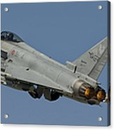 A Eurofighter F-2000 Of The Italian Air Acrylic Print