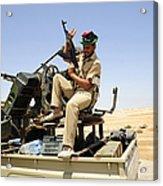A Free Libyan Army Pickup Truck Acrylic Print