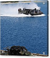A Landing Craft Air Cushion Approaches Acrylic Print