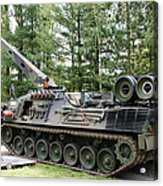 A Leopard 1a5 Mbt Of The Belgian Army Acrylic Print by Luc De Jaeger