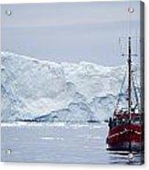 A Midnight Cruise Around The Ilulissat Acrylic Print