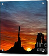 A New Day At The Totem Poles Acrylic Print
