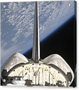 A Partial View Of Space Shuttle Acrylic Print