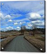 A Road View In Wildlife Refuge Acrylic Print