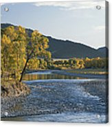 A Scenic View Of The Yellowstone River Acrylic Print