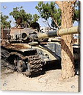 A T-72 Tank Destroyed By Nato Forces Acrylic Print