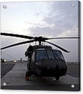 A Uh-60 Black Hawk Helicopter Acrylic Print