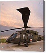 A Uh-60l Black Hawk Medevac Helicopter Acrylic Print