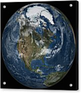 A View Of The Earth With The Full Acrylic Print