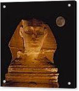 A View Of The Great Sphinx At Night Acrylic Print