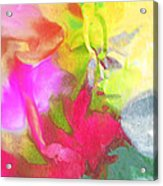 Abstract Garden Impressions Acrylic Print