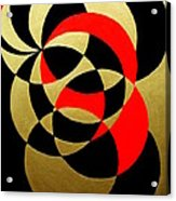 Abstract In Gold Black And Red Acrylic Print
