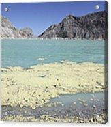 Acidic Crater Lake, Kawah Ijen Volcano Acrylic Print