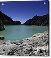 Acidic Crater Lake On Kawah Ijen Acrylic Print