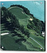 Aerial Of A Golf Course In Bermuda Acrylic Print
