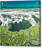 Aerial Vew Of Sandy Neck Beach In Barnstable On Cape Cod Massac Acrylic Print