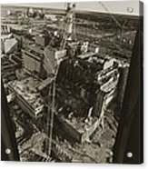 Aerial View Of Chernobyl Soon After The Accident. Acrylic Print