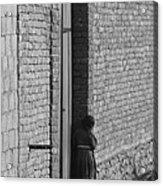 Afghan Girl In Doorway  Acrylic Print