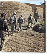 Afghan National Army And U.s. Soldiers Acrylic Print