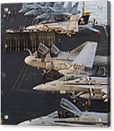 Aircraft Parked On The Flight Deck Acrylic Print
