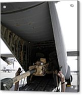 Aircrew Load An M777 A2 Howitzer Onto Acrylic Print