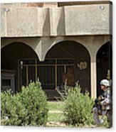Airman Conducts Security Acrylic Print