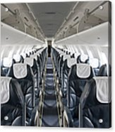 Airplane Seating Acrylic Print by Jaak Nilson
