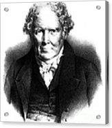 Alexander Monro IIi, Scottish Anatomist Acrylic Print