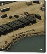 An Aerial View Of The White Beach Acrylic Print