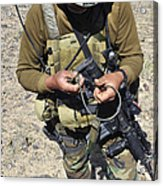 An Afghan National Army Soldier Acrylic Print