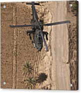An Ah-64d Apache Helicopter In Flight Acrylic Print