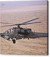 An Ah-64d Apache Longbow Fires A Hydra Acrylic Print
