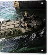 An Amphibious Assault Vehicle Enters Acrylic Print